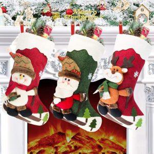 calcetin navidad bazar chino